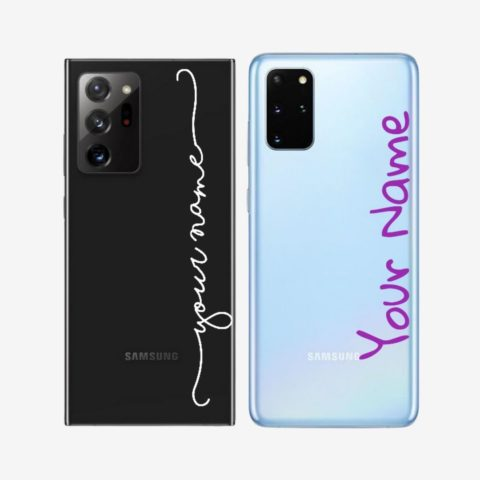 Custom Text Transparent Case for Samsung Phones