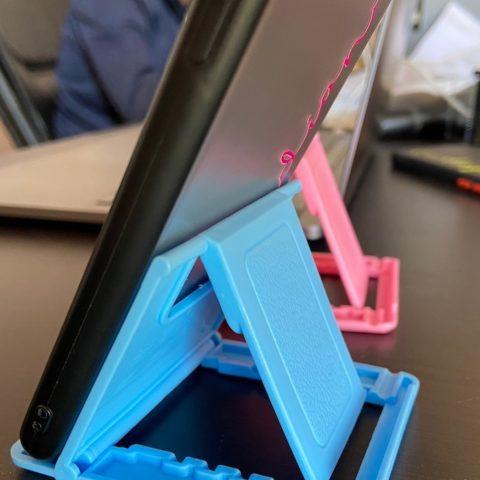 desk phone holder